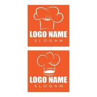 sombrero, chef, logotipo, plantilla, vector, ilustración vector