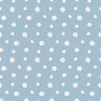 simple, ingenuo, seamless, patrón, blanco, margaritas, flores vector