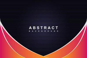 Abstract modern black and gradient background with diagonal waves lines vector