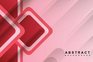 Abstract pink background with geometrical shape vector