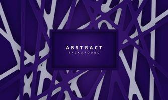 Abstract background with linear deep blue paper cut shapes vector