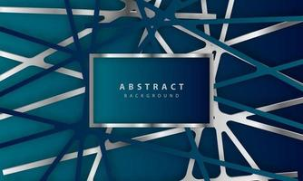 Fondo abstracto con corte de papel azul oscuro decoración de corte de papel realista abstracto con textura vector