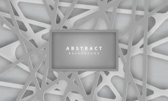 Abstract 3d background with grey papercut vector