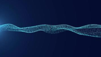 blå våg partikel teknik bakgrund video
