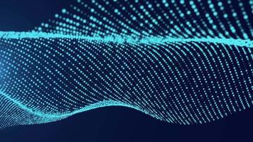 nahtlose Schleife Blue Wave Partikel Technologie Hintergrund video