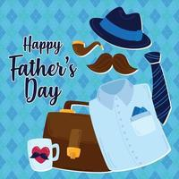 Clothes for for Father's day vector