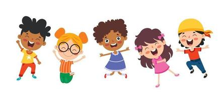 Happy Multi Ethnic Kids Playing Together vector