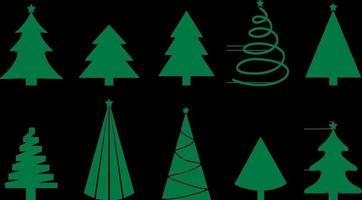 Vector set of christmas trees