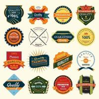 Luxury labels and badges vector