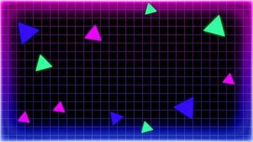 Retro 1980 Style Purple Tone Frame video