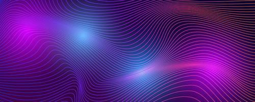 Tech background with abstract wave lines vector