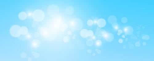 Blurred light sparkle elements Glitters isolated on blue background vector
