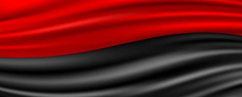 Red and Black Silk Fabric Abstract Background vector