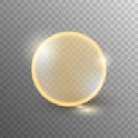 burbuja de aceite aislada sobre fondo transparente vector
