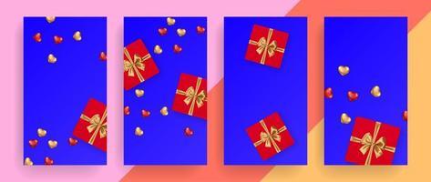 Romantic birthday background vector