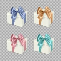 White Gift Box with Ribbon vector