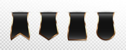 Premium black gold label badge or tag collection vector