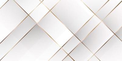 Ilustración de vector de fondo de lujo de oro blanco abstracto
