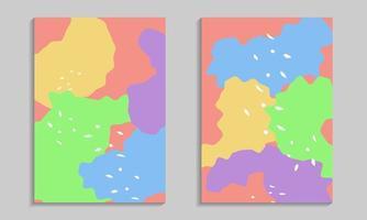 conjunto de carteles de formas orgánicas abstractas vector