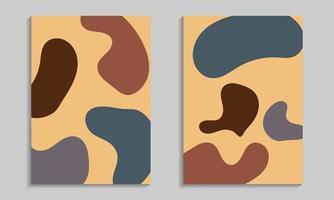Abstract organic shapes poster set vector