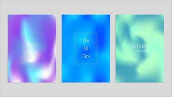plantilla de diseño de portada fuid vector abstracto mínimo