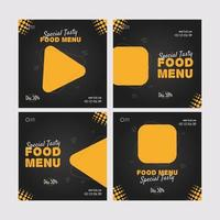 Tasty Food Social Media Post vector