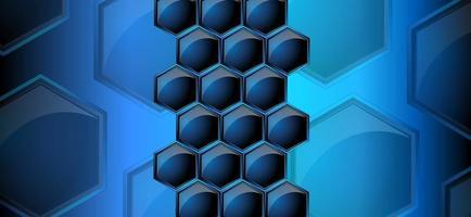 imagen vectorial de panales en color azul neón vector