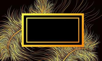 Vector background abstract image in trendy black color with multicolored luminous elements and incredible gradients of wavy lines