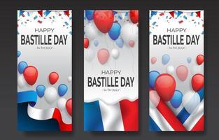 Bastille Day Day Banner Concept vector