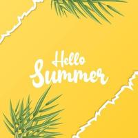 summer poster template for promotion vector