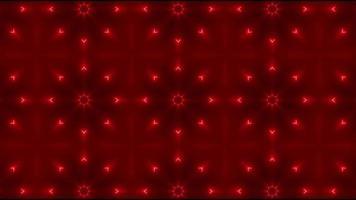 fond abstrait kaléidoscope rouge video