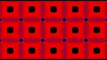 fond abstrait kaléidoscope rouge et noir video