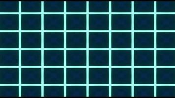 fond abstrait kaléidoscope néon vert video