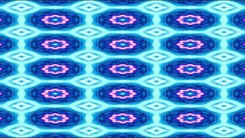 Blue and White Kaleidoscope Background video