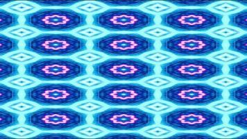 fond de kaléidoscope bleu et blanc video