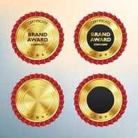 Luxury gold badges and labels premium quality product vector illustration
