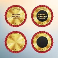 Insignias y etiquetas de oro de lujo ilustración de vector de producto de calidad premium