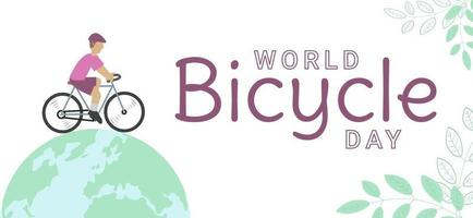 World bicycle day concept vector illustration Perfect for posters banners or greeting cards