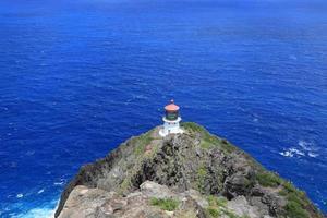 Makapuu lighthouse in Oahu, Hawaii photo