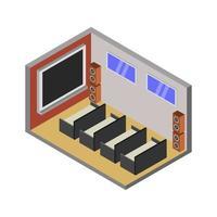 Isometric Cinema Room vector