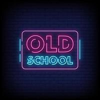 Old School Neon Signs Style Text Vector