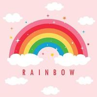 Concept Of A Colorful Rainbow vector