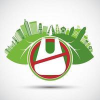 concepto de bolsas reutilizables ecológicas y ambientales. vector