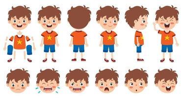 diseño de personajes de dibujos animados para animación vector