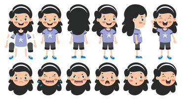 Cartoon Character Design For Animation vector