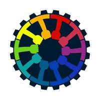 Teamwork community design concept with hands vector