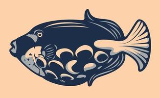 Tropical fish illustration vector