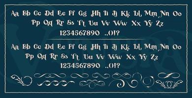 Set of decorative typefaces vector