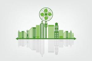 concepto de energía global ecológica verde vector