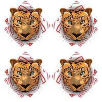 tiger tropical seamless vector